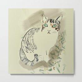 A cute kitten named Kiwi Metal Print