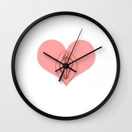 I Heart Vagine Wall Clock