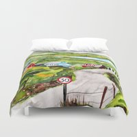 ireland Duvet Covers featuring Ireland by KS Art & Design