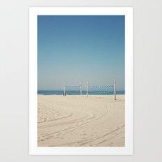 Hermosa Beach Volleyball Art Print