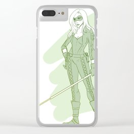 Black Canary Clear iPhone Case