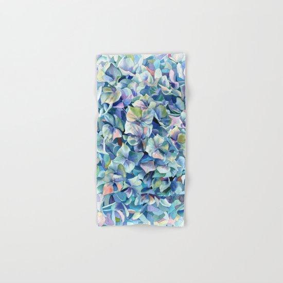 """Marine hydrangea"" Hand & Bath Towel"