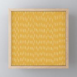 Raindrop Abstract Boho Pattern, Yellow Framed Mini Art Print