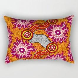 Aboriginal Art Authentic – Journey 2 Rectangular Pillow