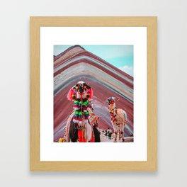 Desert fashion Framed Art Print
