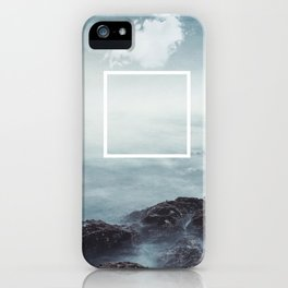 merging sky and sea iPhone Case
