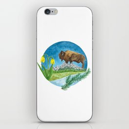 Bison Respect: Yellowstone Flora and Fauna iPhone Skin