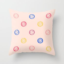Soccer Ball Illustration – Colorful Throw Pillow
