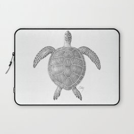 Sea Turtle Pencil Drawing Laptop Sleeve