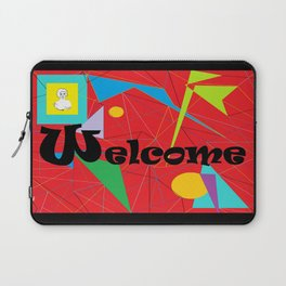 American Sign Language ASL WELCOME Laptop Sleeve