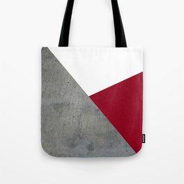Concrete Burgundy Red White Tote Bag