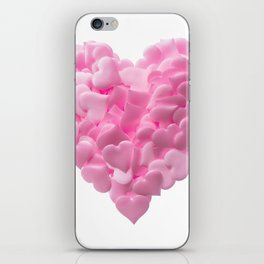 Big heart made of small pink hearts iPhone Skin