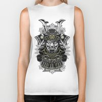 samurai Biker Tanks featuring Samurai by Brewer Arts