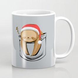 Sloth in a Pocket Xmas Coffee Mug