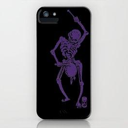 Purple Faust Skeleton I iPhone Case