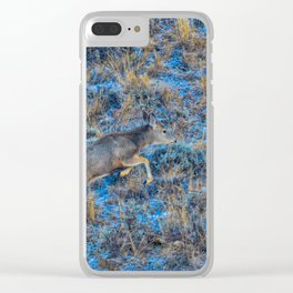 Jumping The Fence Clear iPhone Case