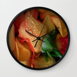 Midas Touch Rose  Wall Clock