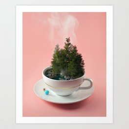 Hot cup of tree Art Print