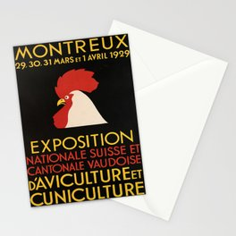 retro retro montreux exposition nationale suisse et cantonale poster Stationery Cards