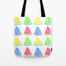 Watermelon Color Mix Tote Bag