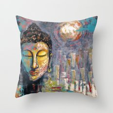 BUDDHA IN PORTLAND Throw Pillow