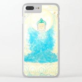 ANGEL BUDDHA Clear iPhone Case
