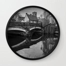 The oldest bridge in Norwich Wall Clock