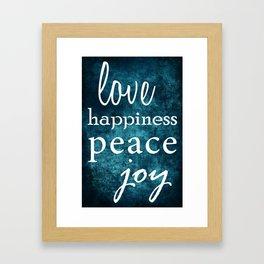 Love and More Framed Art Print