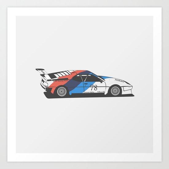 BMW M1 Art Print