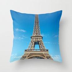 Eiffel Tower in Paris, France Throw Pillow