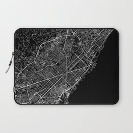 Barcelona Black Map Laptop Sleeve