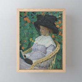 E Phillips Fox - Nasturtiums Framed Mini Art Print