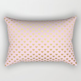 Princesslike - pink and gold elegant heart ornament pattern Rectangular Pillow
