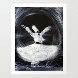 SUFI WHIRLING  - FEBRUARY 21,2013 Art Print