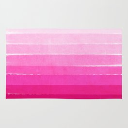 Luca - Ombre Brushstroke, pink girly trend art print and phone case for young trendy girls Rug