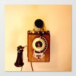 ANTIQUE WALL TELEPHONE Canvas Print