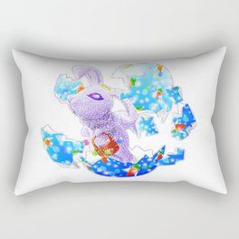 'You Cracked the Egg' Series - Easter Angelic Bunny Rectangular Pillow