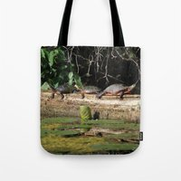 turtles Tote Bags featuring Turtles by Stu Willard