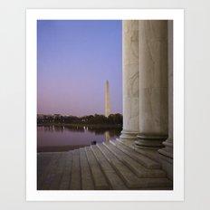 Washington DC at twilight Art Print