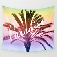 paradise Wall Tapestries featuring Paradise  by Lisa Argyropoulos