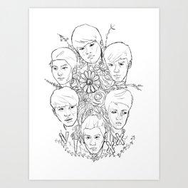 VIXX and Flowers Art Print