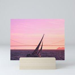 Sailing to Sunset Paradise Mini Art Print