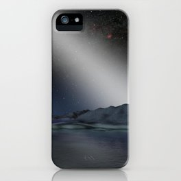 992. Alien Asteroid Belt Compared to our Own Artist Concept iPhone Case