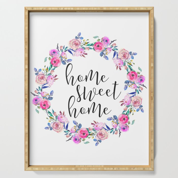 image about Home Sweet Home Printable referred to as Residence Cute Residence, Condo Decor, Printable Wall Artwork, Typography Quotation Serving Tray via printableartsy