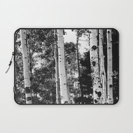 Aspen Forest - Black And White Nature Photography Laptop Sleeve
