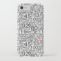 numbers iPhone & iPod Cases featuring Numbers by Marissa Regelin
