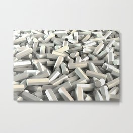 Pile of white hexagon details Metal Print