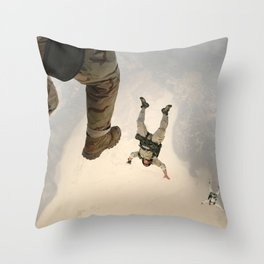 Parachuting sky 3 Throw Pillow