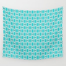 Aqua pattern Wall Tapestry