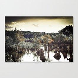 Dead Lakes Grunge Style Canvas Print